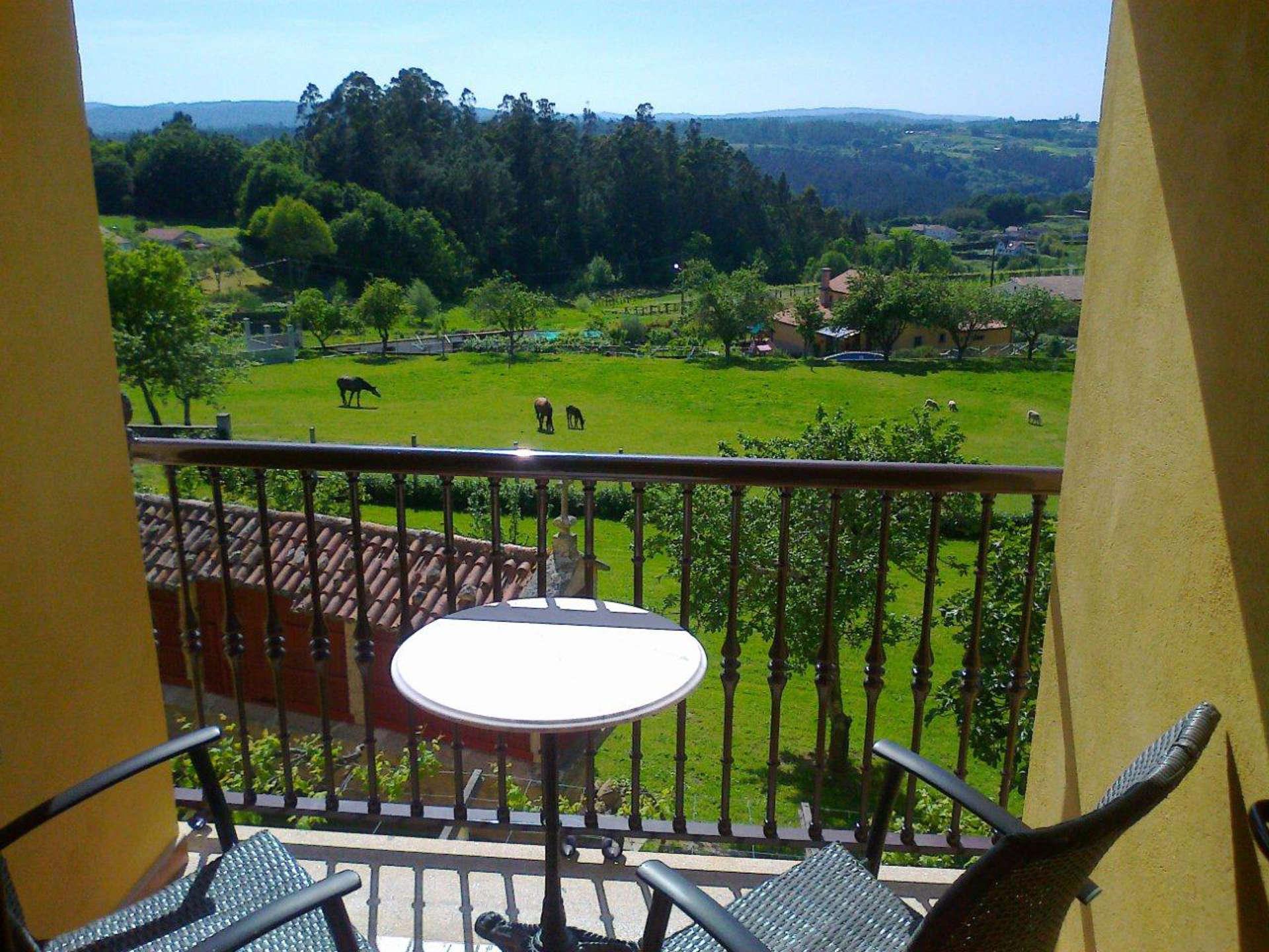Habitacion doble Miradoiro con balcon casa rural