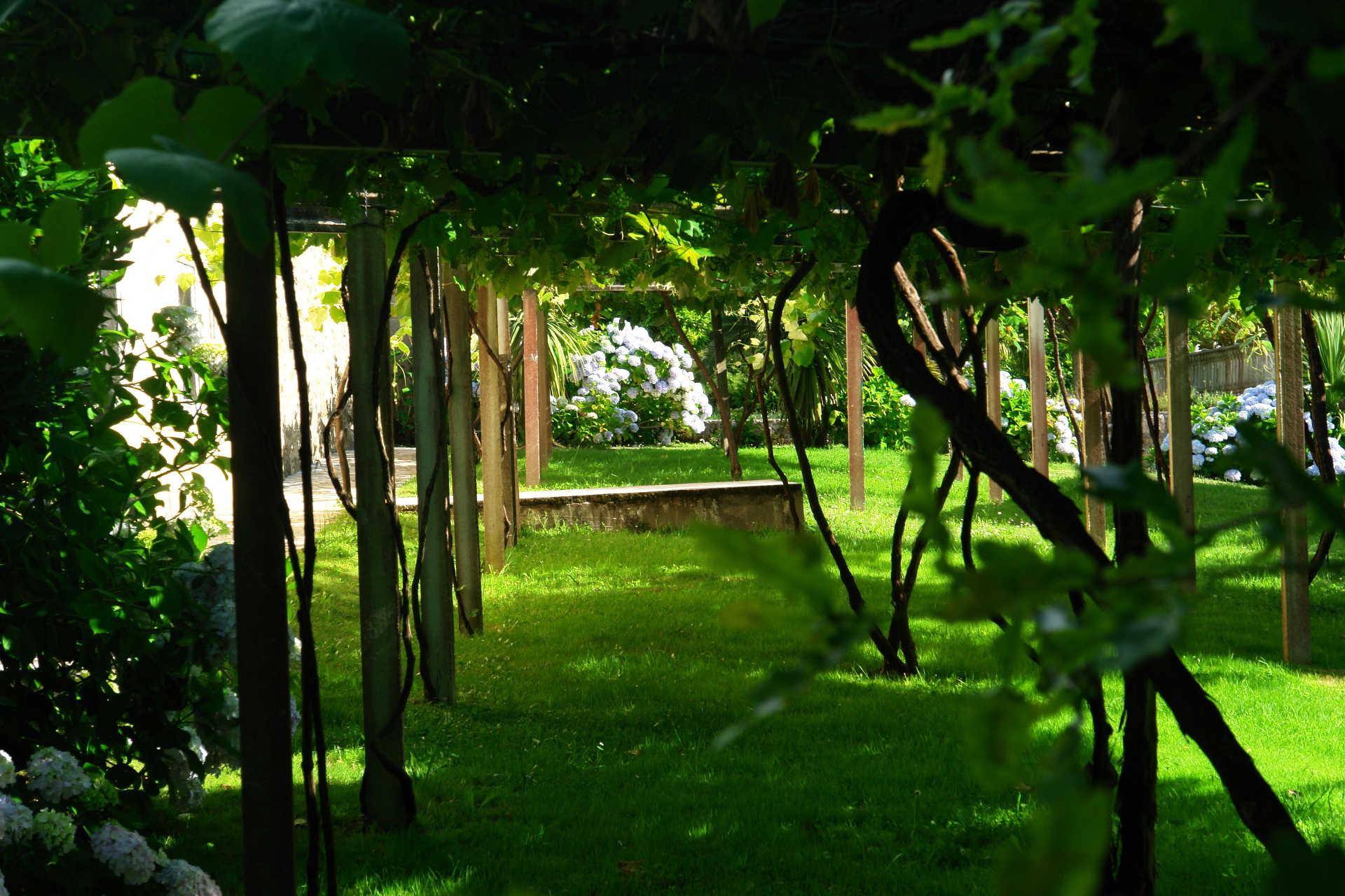 Jardines exteriores viñas casa rural as seis chemineas