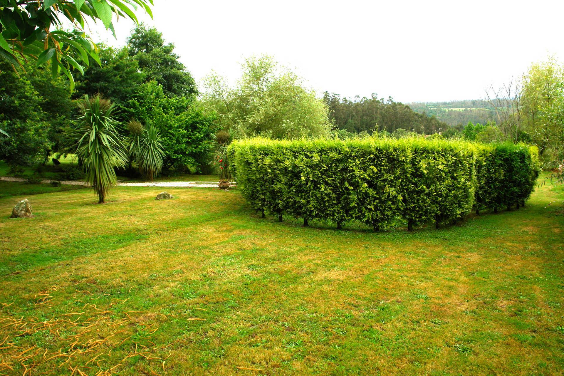 Jardines exteriores seto casa rural as seis chemineas